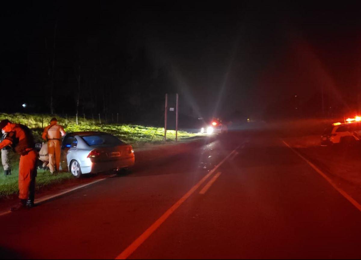 Assaltantes rendem família em Douradina e levam Honda Civic